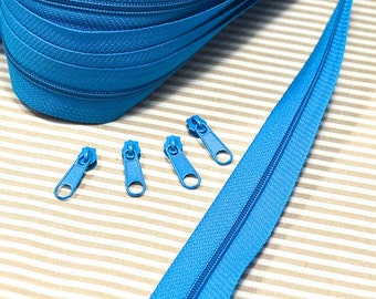 Endless zipper 1 m turquoise/blue