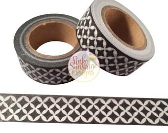 Black and White Lattice Washi Tape 15mm