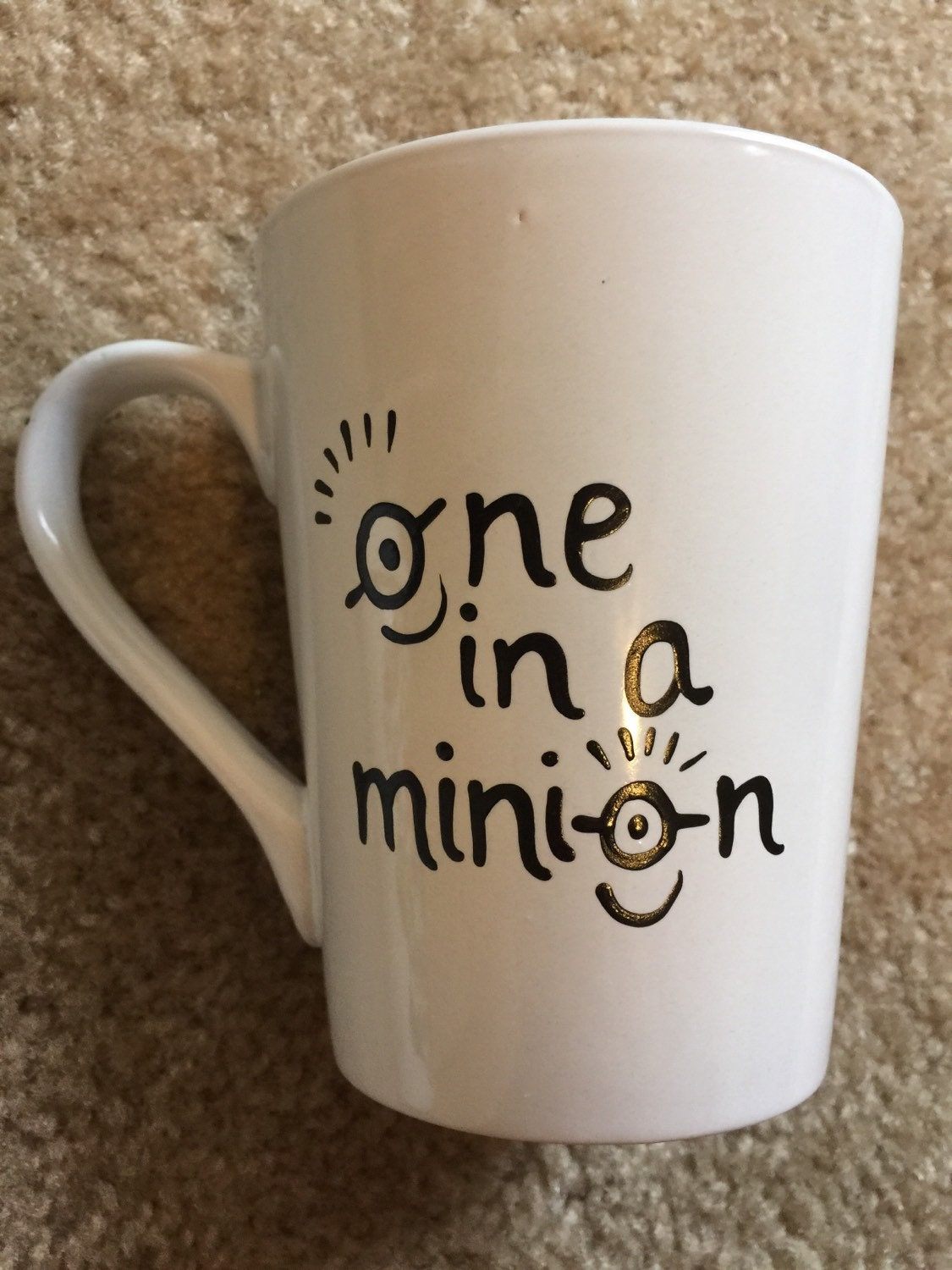 Hand Painted One In A Minion Coffee Mug 14oz