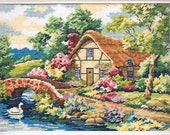 Cottage Hideaway needlepoint kit