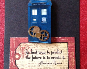 Steampunk;#Doctor Who;#Tardis;#adventure;mixed media;antihero;time lord;Peter Capaldi and Genna, The Impossible Girl.