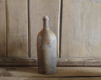 Antique French Pottery stoneware oil bottle