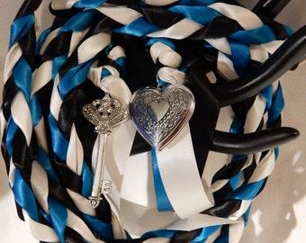 Key to Love  Wedding Handfasting Cord ~  Turquoise Theme ~ Celtic Handfating ~ Handfasting ~ Divinity Braid ~ Hand Blessing ~ Handbinding