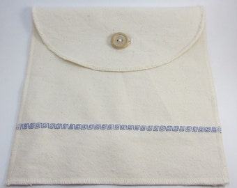 Reusable Organic Cotton Sandwich / Snack Bag