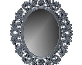 "18"" Gray Victorian Mirror Shabby Chic Home Decor"