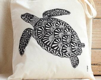 Turtle Cotton Tote Bag