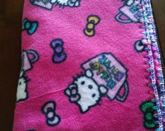 Hello Kitty Toddler Blanket w/ Crochet Edge