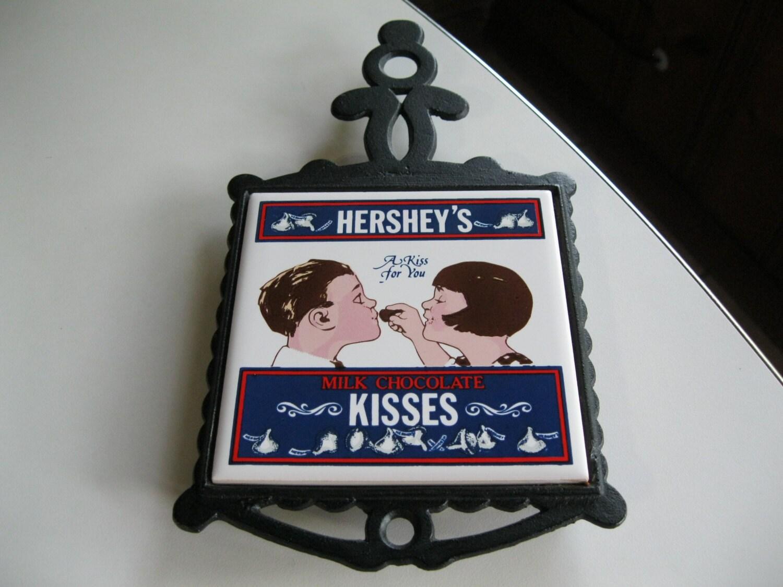 Hershey 39 s kiss trivet hershey 39 s kiss tile by shariansplace on etsy - Hershey kiss dispenser ...