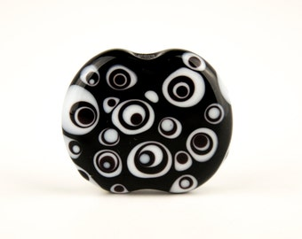 Optic - Handmade Lampwork Glass Focal Bead SRA