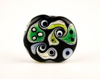 Folksical - Handmade Lampwork Glass Focal Bead Whimsical Organic SRA