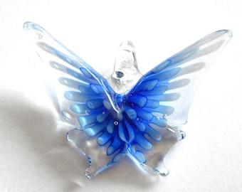 Blue Glass Butterfly Focal Bead - Statement Bead