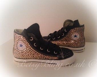 SALE **15% off original price** Crystal Converse 2 Tone Hi Tops-ANY colours