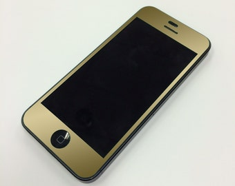 Gold iPhone Front and Back Color Vinyl Wrap - Decal for your Iphone 5 5C or 5S