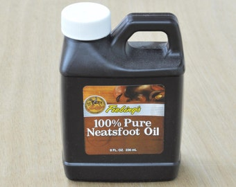 10907- Fiebings Neatsfoot Pure Oil Leather Craft 8 oz 100% natural preservative