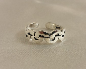 Arch or rainbow style toe ring .925 Sterling Silver - Toe Ring or knuckle ring