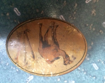 Vintage Cloetta Candy Tin with Camel on Lid