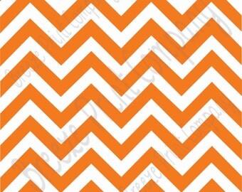 Orange chevron craft  vinyl sheet - HTV or Adhesive Vinyl -  orange and white large zig zag pattern   HTV97