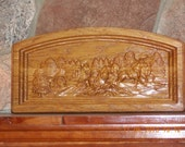 Western Decor Stagecoach ~ Stage Coach Wood Carving ~ Rustic Home Decor ~ Custom 3D Wood Carving ~ Vintage Cowboy Art ~ TheWoodGrainGallery