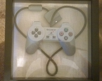 Playstation Heart, wire wrap, controller art
