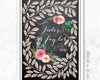 WEDDING GUEST BOOK Alternative - Wedding Guest Book Sign - Unique Wedding Guest Book - Chalkboard Wedding Guest Book - Personalized Wedding