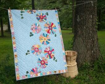 Dresden Garden lap or wall quilt pattern