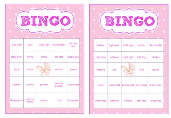 Girl Baby Shower Bingo Printables Kitchen And Living Space Interior