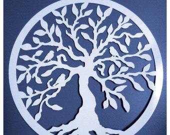 """Tree of Life wall art/ door hanger, Summer Wreaths,Tree of Life w/ birds - 24"""",Metal Wall Art,Tree Art, Garden Art, Front Door Wreaths"""