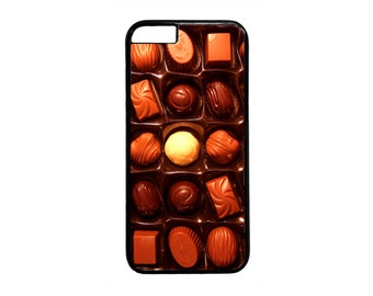 Cute Box of Chocolates Case Cover for iPhone4  4s 5 5s 5c 6 6s 6 Plus Black or white  iPod Touch case