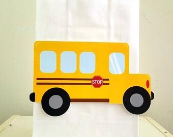 School Bus Goody Bags, School Bus Favor Bags, School Bus Party Bags, Back to School Goody Bags, Back to School Favor Bags, Back to School