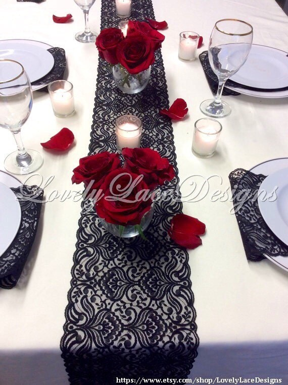 Black Lace Table Runner 3ft 10ft X 6 5in Lace Table