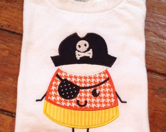 Candy Corn Pirate Appliqued T-shirt