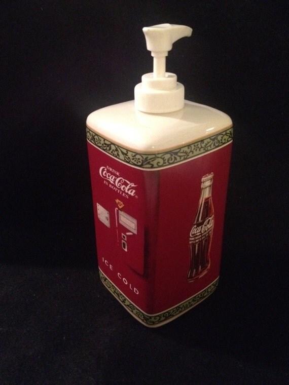 Vintage Coca Cola Lotion Or Soap Ceramic Dispenser