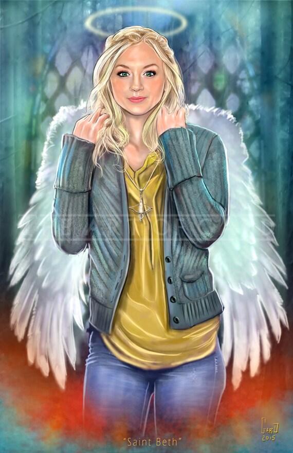 Saint Beth (Emily Kinney) 11X17 Artist's Print