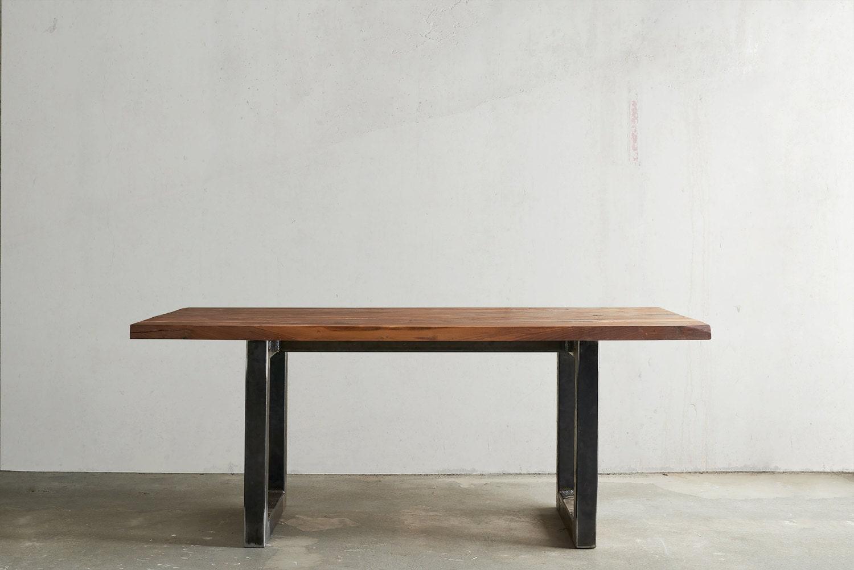rustic modern solid walnut dining table. Black Bedroom Furniture Sets. Home Design Ideas