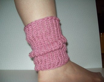 chunky knit ankle warmers