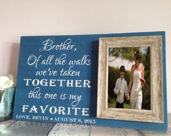Custom Wedding Gift - Parents Gift - Custom Wedding Gift - Brother Of The Bride Gift - Father Of The Bride Wedding Gift