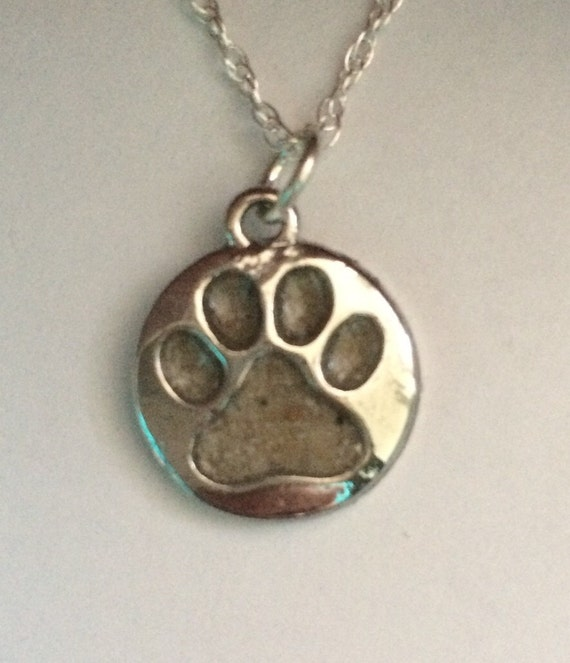 items similar to sterling silver paw print engraved