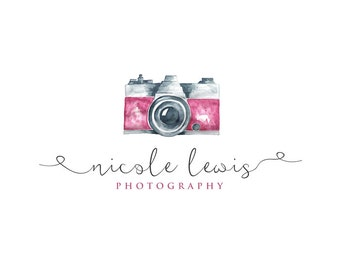 Vintage Camera Logo, photography Logo, Calligraphy Logo, Small Business Logo, Photographer watermark n043