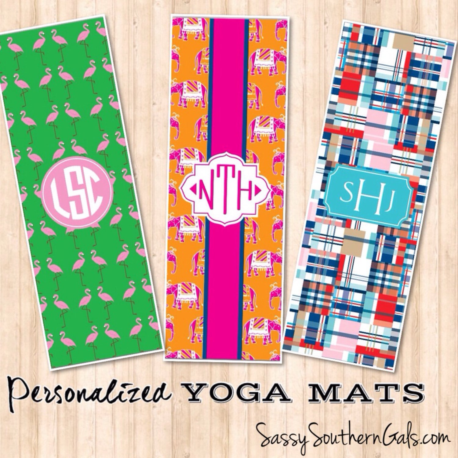 Monogrammed Yoga Mat Personalized Yoga Mat By