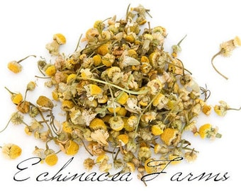 CHAMOMILE FLOWERS - 1 oz. Organic Tea Herb Herbal German Culinary Wiccan Whole Potpourri Soap Making Crafts
