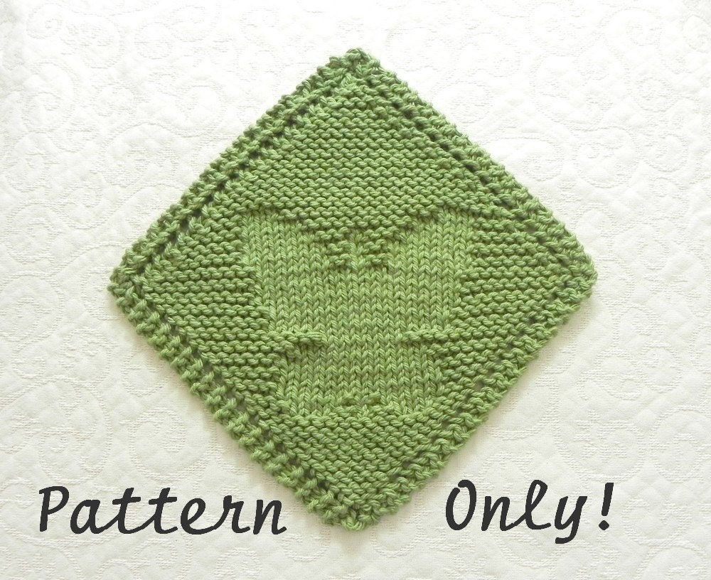 Knit Butterfly Pattern : Diagonal BUTTERFLY Knitting Pattern pdf Instant Download