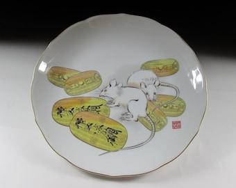 Fukagawa Year of the Rat Plate