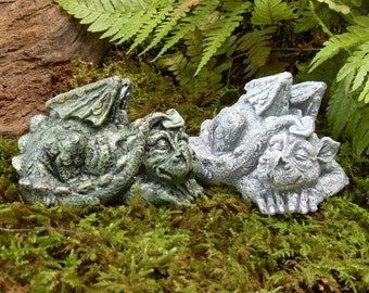Dragon Statue,Baby Dragon Statue,Sleeping Baby Dragon,Pet Dragon Statue,Dragon Garden Statue