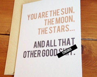 Funny Valentine - Funny Card - Anniversary Card - Love Card - Funny I Love You Card