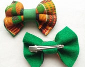 Handmade African print hair bow accessory