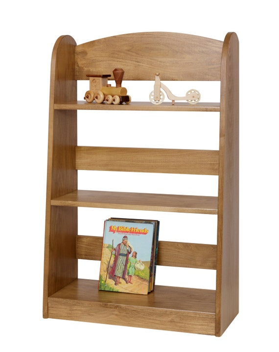 Wooden Bookshelf Kid Size Furniture Preschool By Rustictoybarn