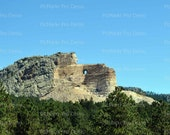 Crazy Horse Monument Birthday - Edible Cake and Cupcake Topper For Birthday's and Parties! - D20349