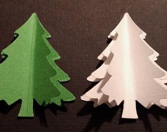 Diecut Tree - 3 dimensional - Set of 6