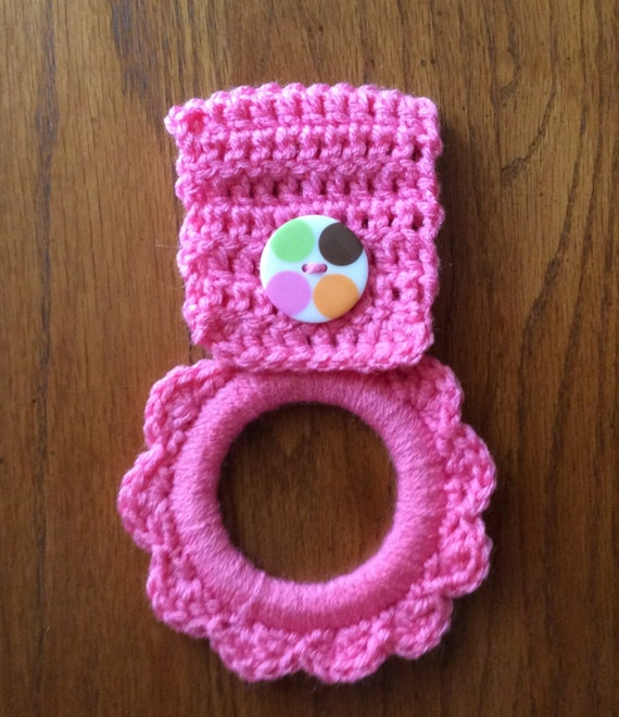 Kitchen Towel Hanger Crochet Towel Hanger Button Towel