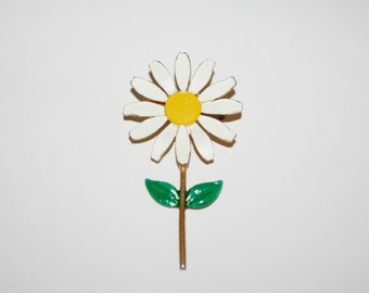 Vintage Daisy Brooch / Pin 2.75 inches | Ships FREE in US